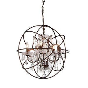 Warehouse Of Tiffany Planetshaker Antique Bronze Spherical Chandelier