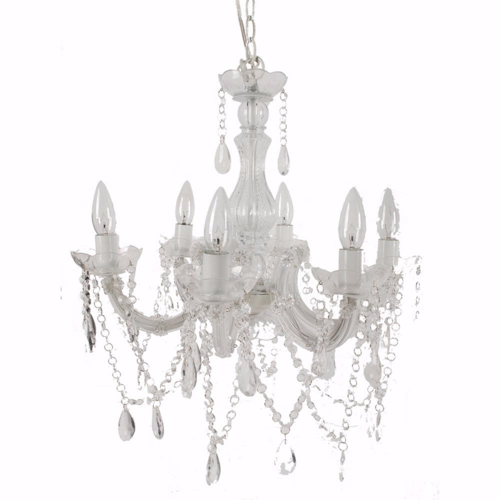 Alluringly Captive Winter Beaded Chandelier
