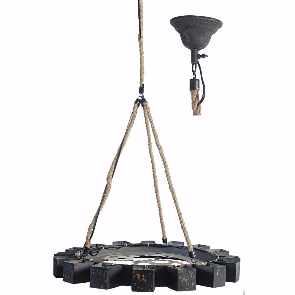 Distinctively Designed Tyre-Like Chandelier