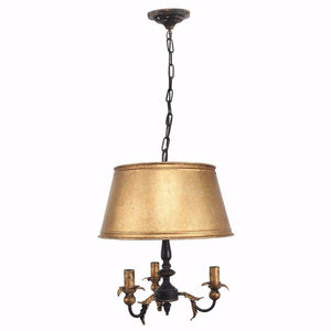 Simply Elegant Metal Chandelier, Gold And Black