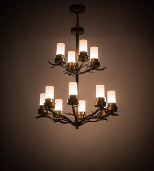 "30""W Winter Solstice 12 LT Chandelier"