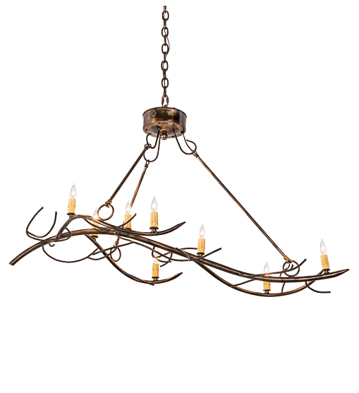 "44""L Winter Solstice 8 LT Oblong Chandelier"