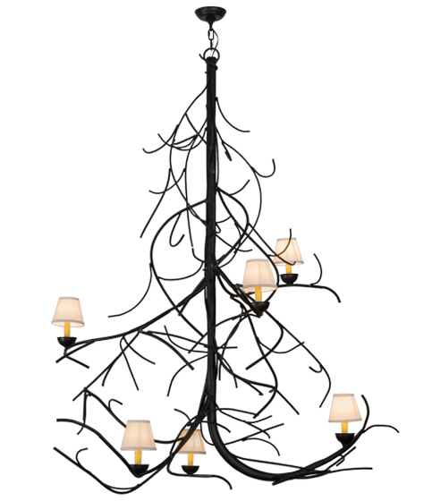 "50""W Winter Solstice Empire 6 LT Chandelier"