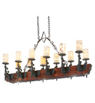 "60""L Tudor Jadestone 12 LT LED Oblong Chandelier"