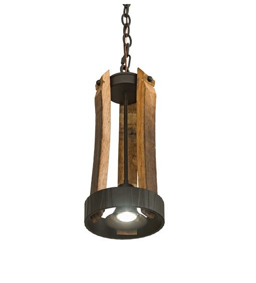 "7.5"" Wide Barrel Stave Pendant"