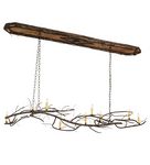 "70""L Winter Solstice 9 LT Oblong Chandelier"
