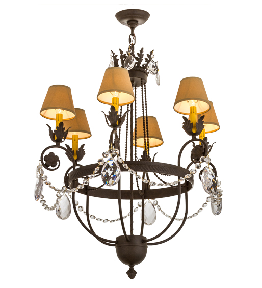 "Exquisite 28""W Antonia 6 LT Chandelier"