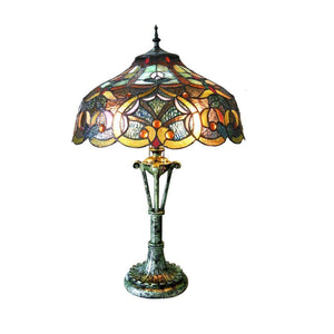 "CHLOE Lighting ALESSANDRA Tiffany-style 2 Light Victorian Table Lamp 17"" Shade"