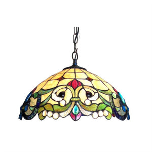 "CHLOE Lighting DULCE Tiffany-style 2 Light Victorian Ceiling Pendent 18"" Shade"