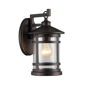 "CHLOE Lighting ABBINGTON Transitional 1 Light Rubbed Outdoor Wall Sconce 11"" Tall"