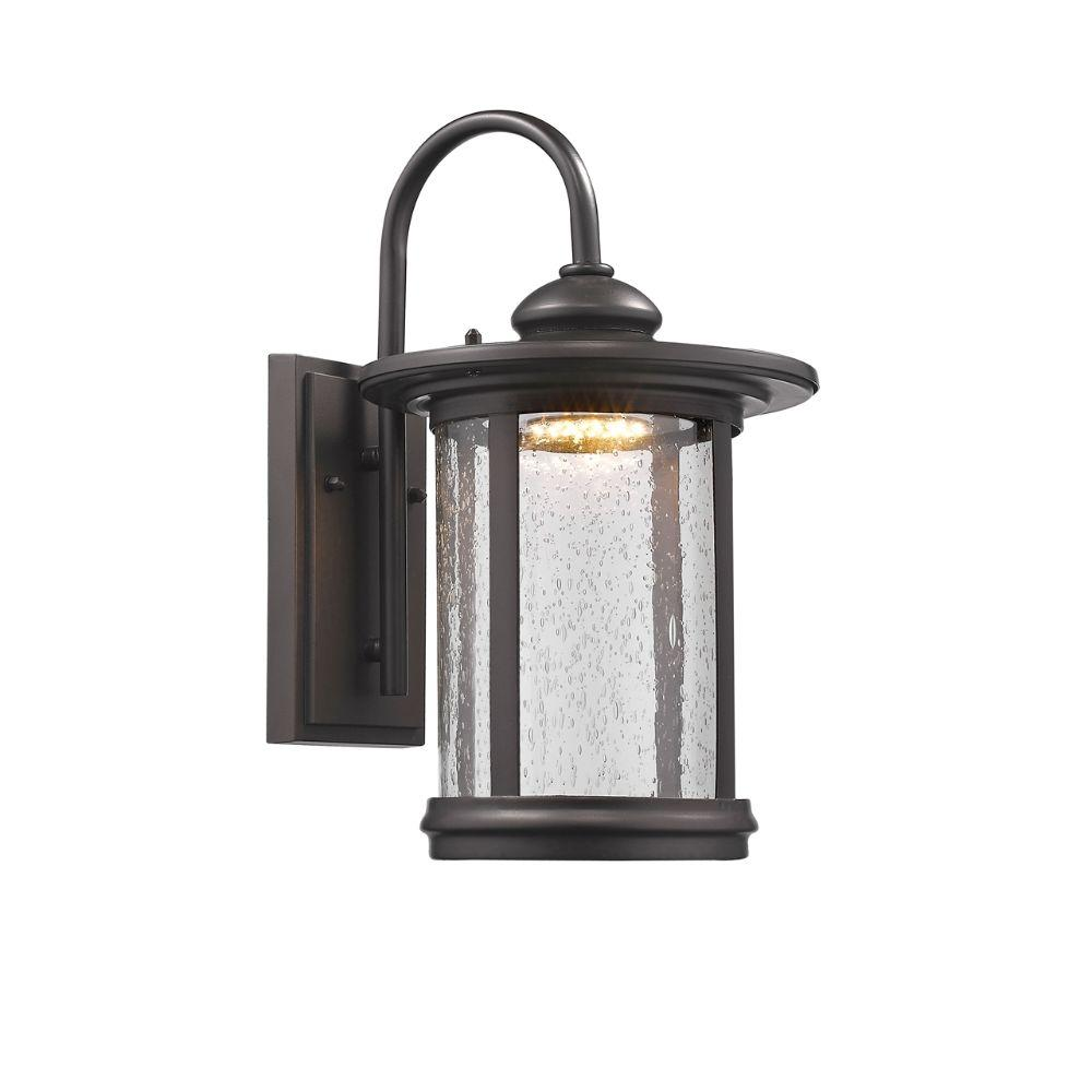 CHLOE Lighting COLE Transitional LED Rubbed Bronze Outdoor Wall Sconce