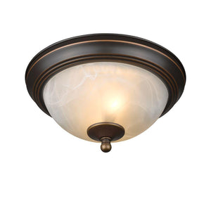"CHLOE Lighting CAITLIN Transitional 2 Light Bronze Flushmount Ceiling Fixture 11"" Wide"