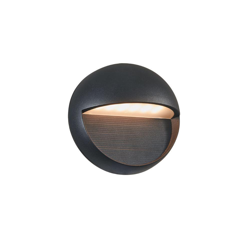 "CHLOE Lighting DAVID Transitional LED Textured Black Outdoor/Indoor Wall Sconce 6"" Height"