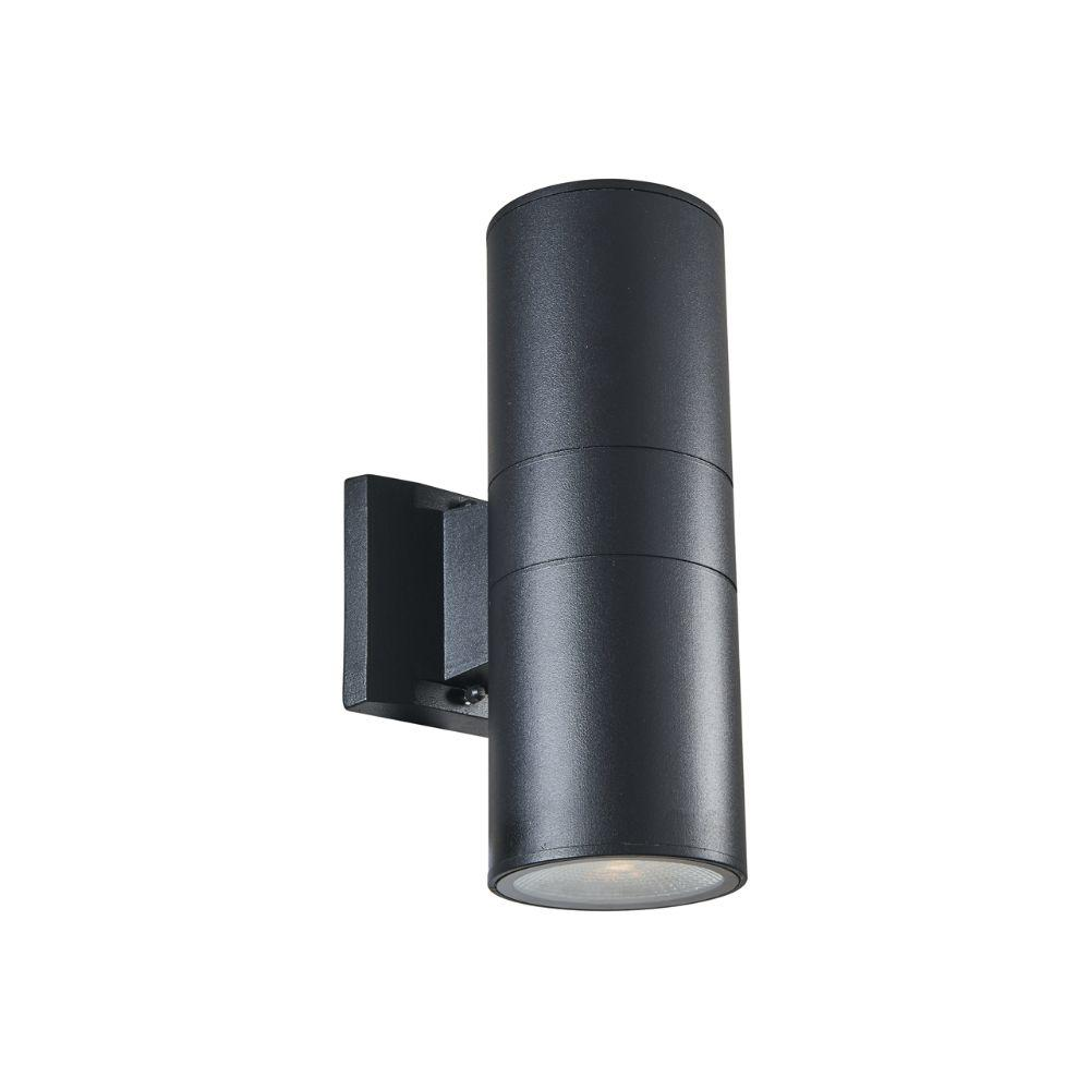 "CHLOE Lighting DYLAN Transitional LED Textured Black Outdoor/Indoor Wall Sconce 12"" Height"