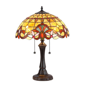 "CHLOE Lighting COOPER Tiffany-style 2 Light Victorian Table Lamp 16"" Shade"