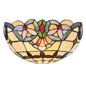 "CHLOE Lighting COOPER Tiffany-style 1 Light Victorian Wall Sconce 12"" Wide"