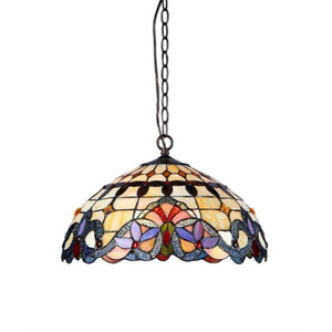 "CHLOE Lighting COOPER Tiffany-style 2 Light Victorian Ceiling Pendent Fixture 18"" Shade"