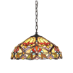 "CHLOE Lighting BYRON Tiffany-style 2 Light Victorian Ceiling Pendant Fixture 18"" Shade"