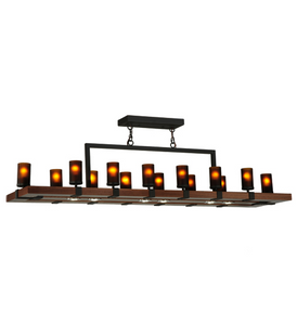 "72""W Grand Terrace 14 LT LED Oblong Chandelier"