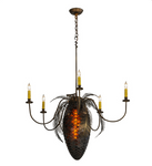 "36""W Pinecone 5 Arm Chandelier"