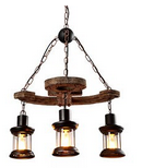 Rustic Barn Beams wood chandelier Multipul Styles Available