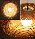 Woven Wicker Bamboo Light Chandelier