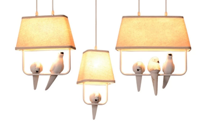 Lovely Birds Pendant Lights Vintage Style
