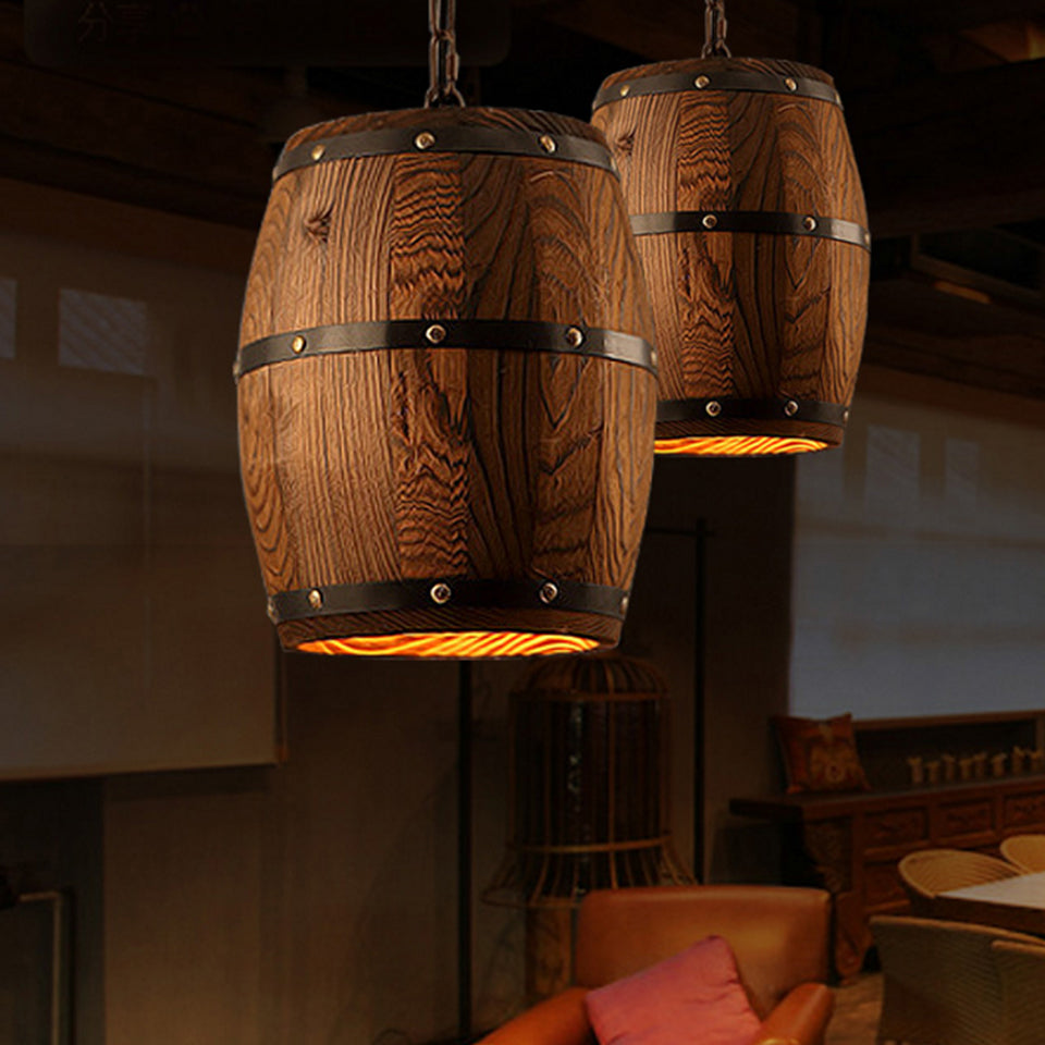 Whiskey Barrel Drop Pendant Light