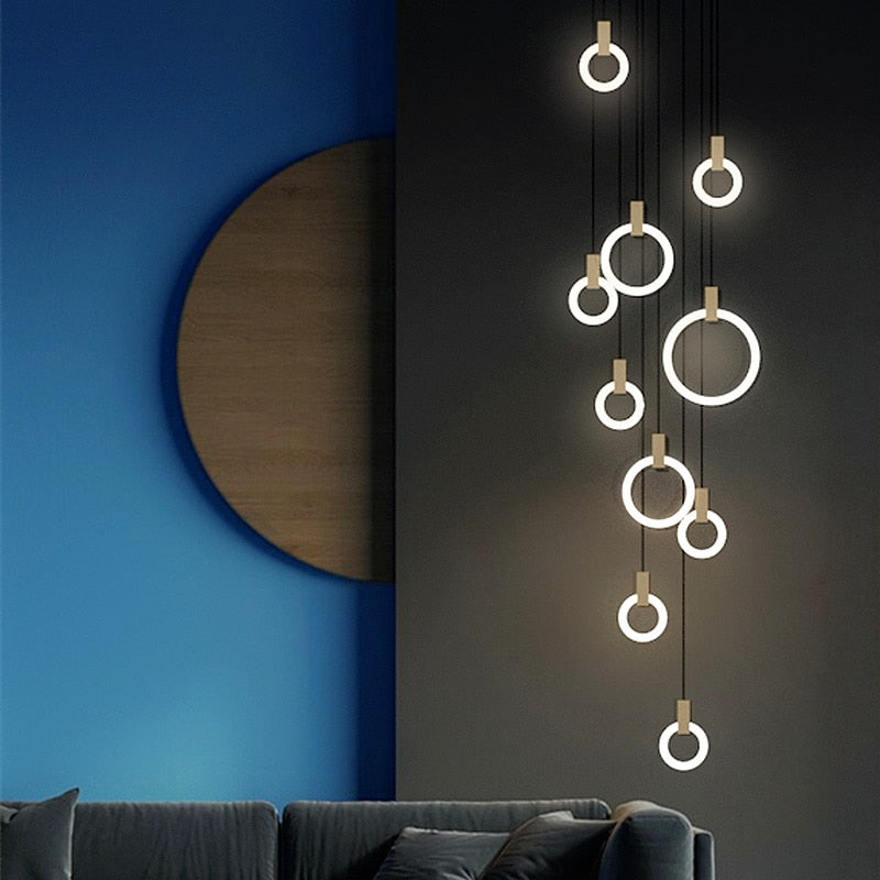 Hanging Orbs Glowing LED Light Fixture