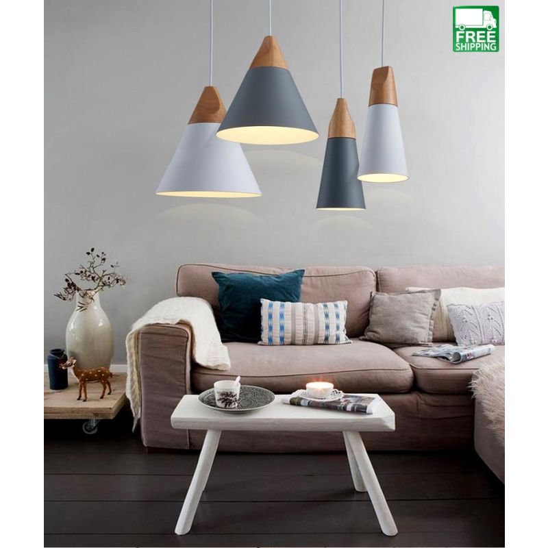 Sloped Shade Chandelier