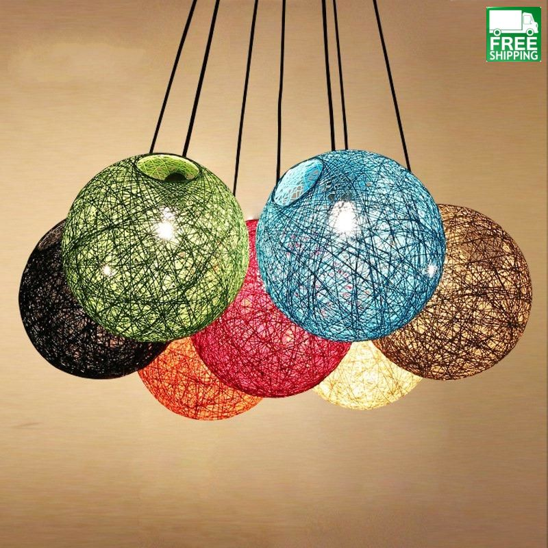 Round Wicker Chandelier