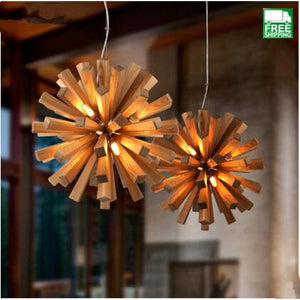 Northern Europe Solid Wood Chandelier