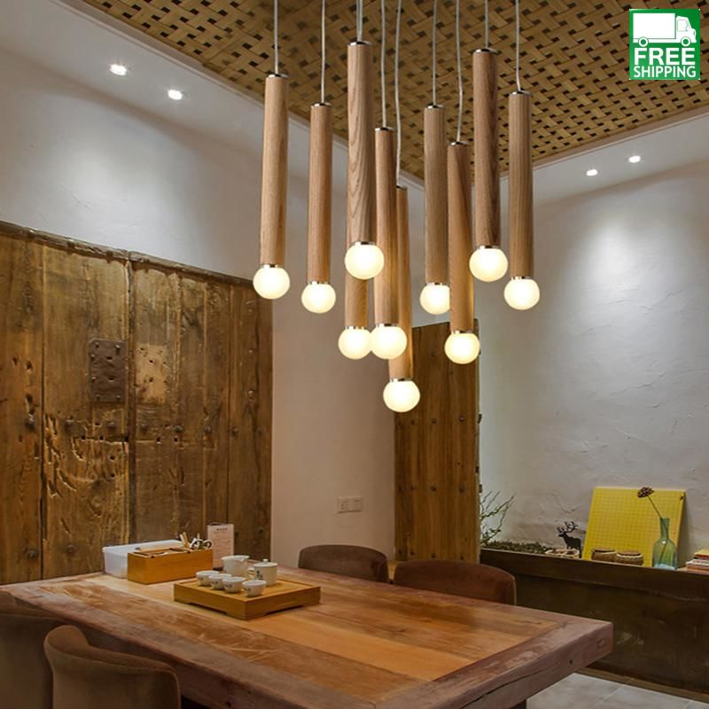 Wood Rod Chandelier