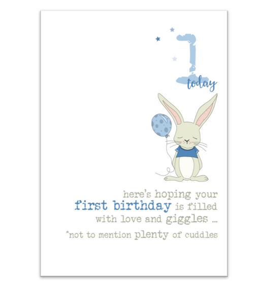 First Birthday Blue