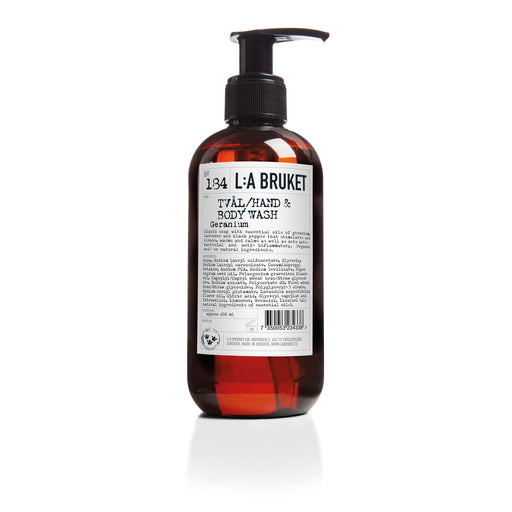 L:A BRUKET Hand & Body Wash Geranium 250ml