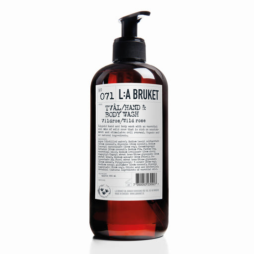 L:A BRUKET Hand & Body Wash Wild Rose 450ml