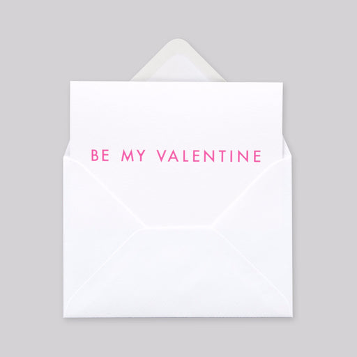 Be My Valentine Print in Neon Pink/ White