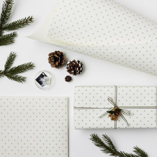 Snowflake Black & White wrapping paper sheet