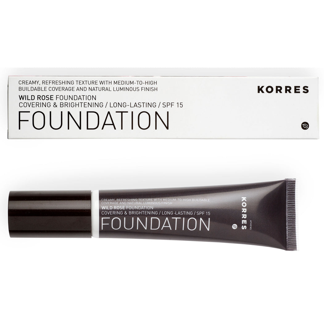 KORRES Foundation Wild Rose SPF15 RF4 30ml