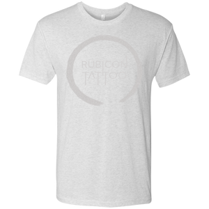 Men's White Logo Triblend T-Shirt