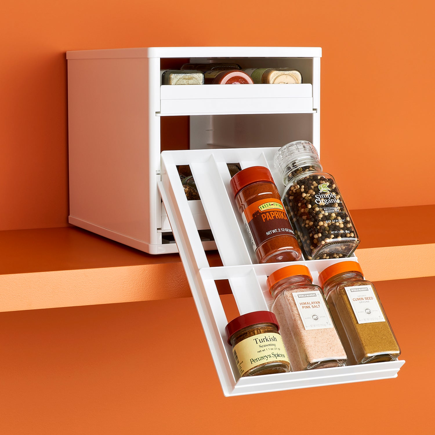 SpiceStack Original 18-Bottle Cabinet Spice Rack