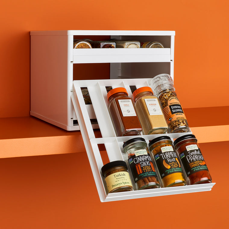 SpiceStack Classic 24-Bottle Cabinet Spice Rack