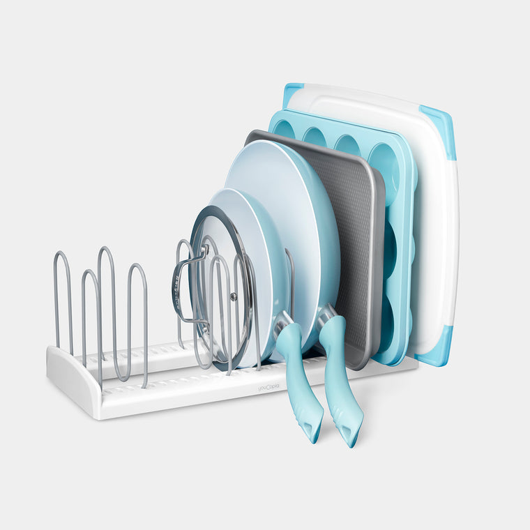 StoreMore® Adjustable Pan and Lid Rack