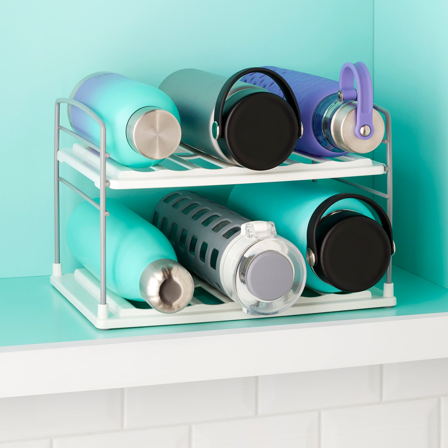 UpSpace™ Water Bottle and Travel Mug Organizer