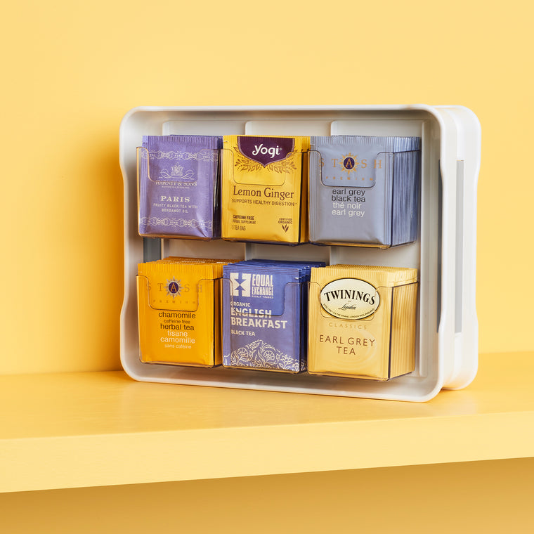 TeaStand Tea Bag Cabinet Organizer and Caddy
