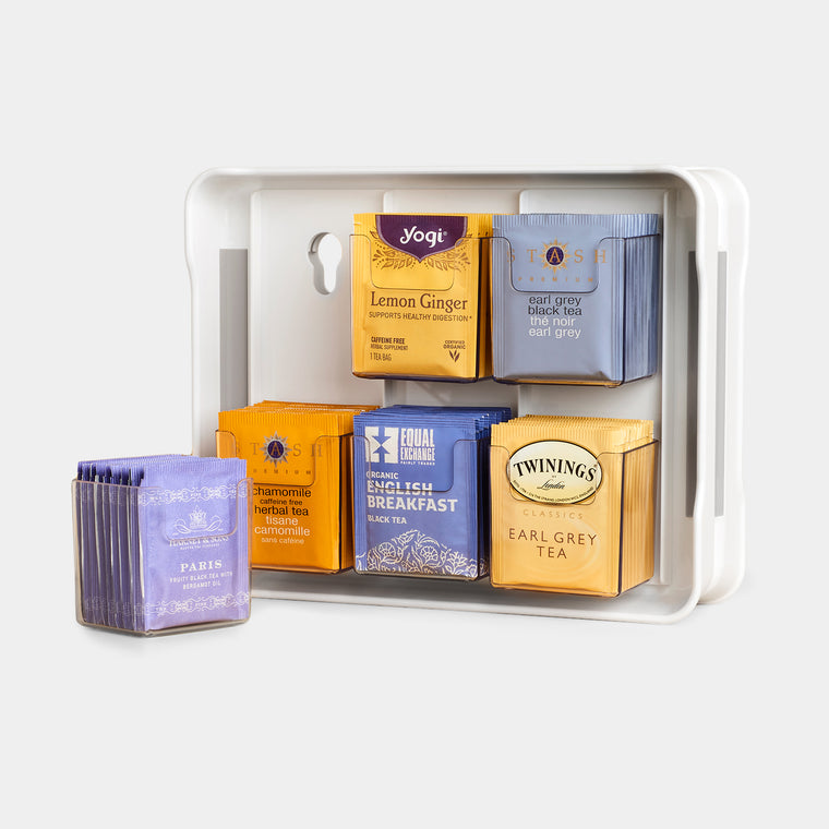 TeaStand® Tea Bag Cabinet Organizer and Caddy
