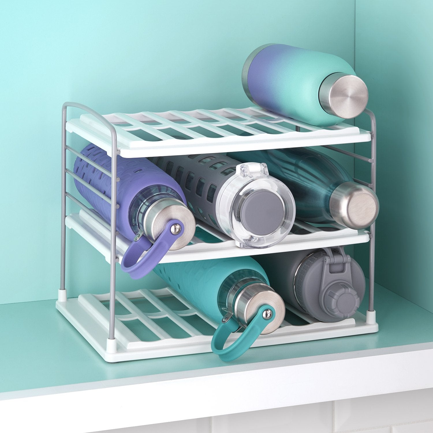 UpSpace Water Bottle and Travel Mug Organizer, Shelf