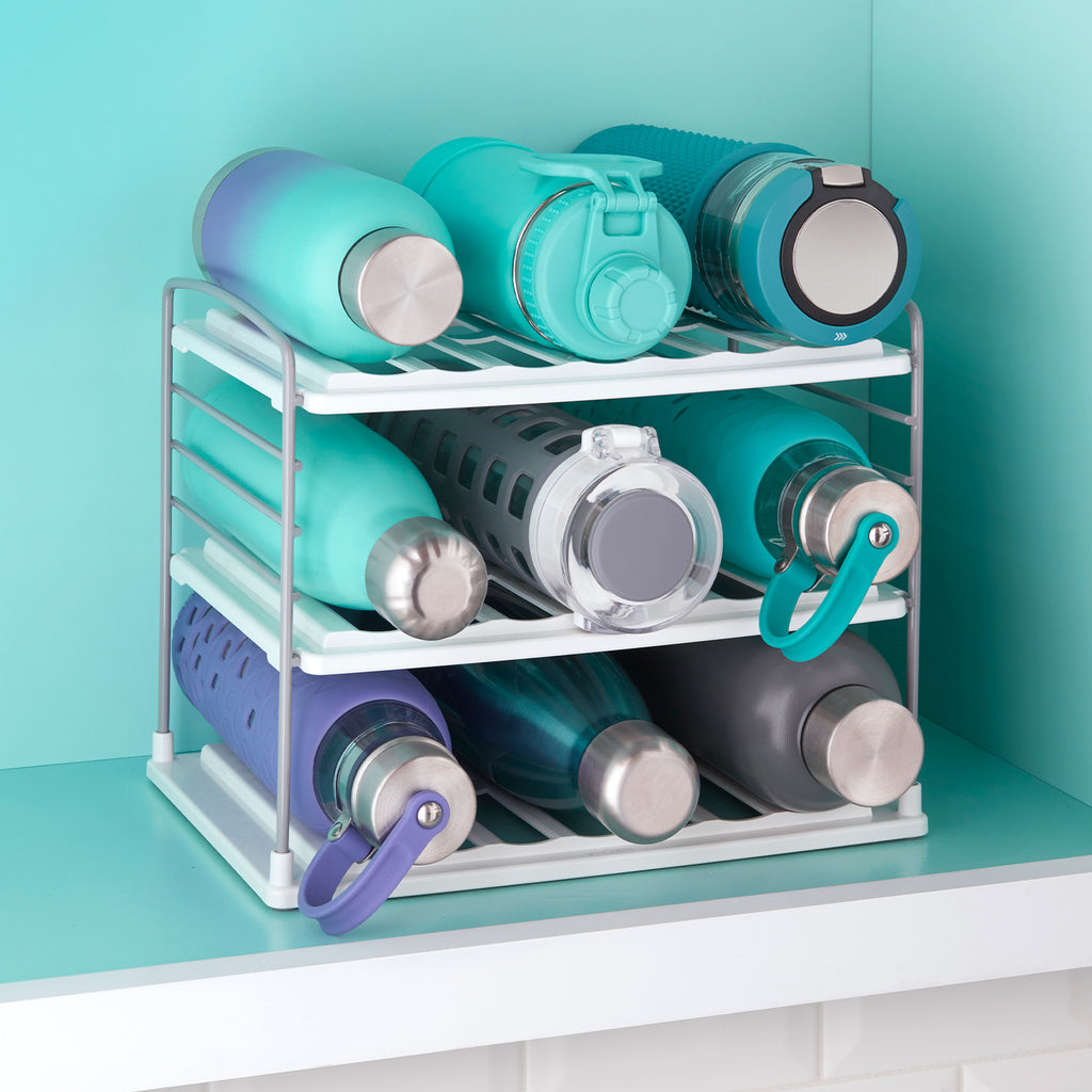 UpSpace Water Bottle and Travel Mug Organizer, 3 Shelf
