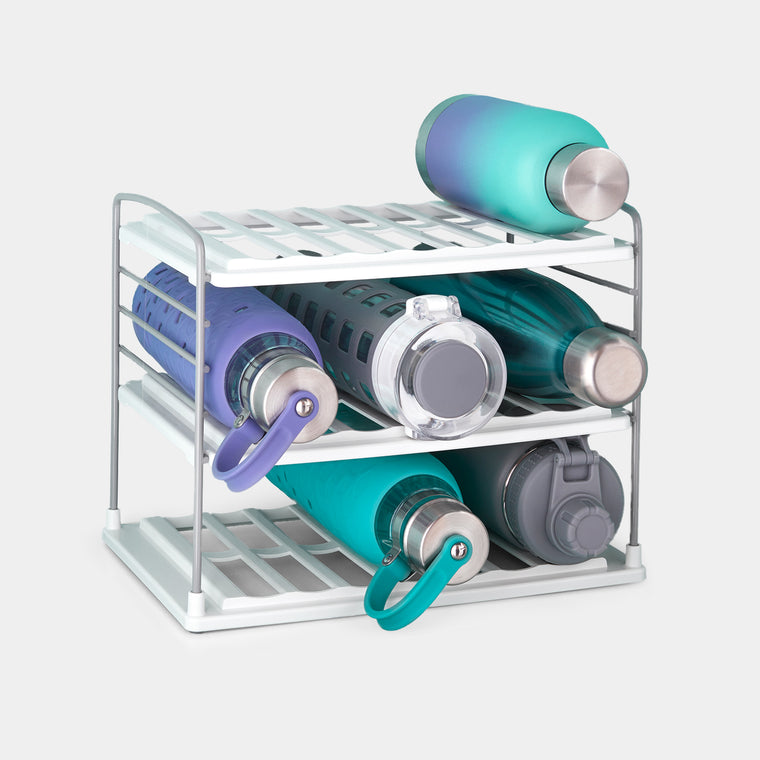 UpSpace™ Water Bottle and Travel Mug Organizer, 3 Shelf