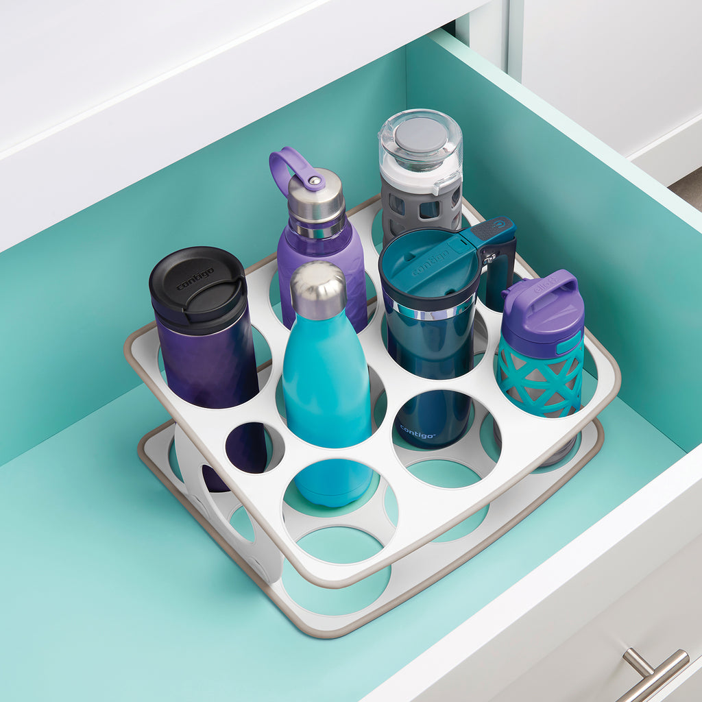 BottleStand Travel Mug and Water Bottle Organizer